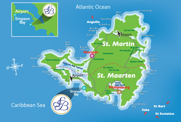 French Caribbean Islands Map