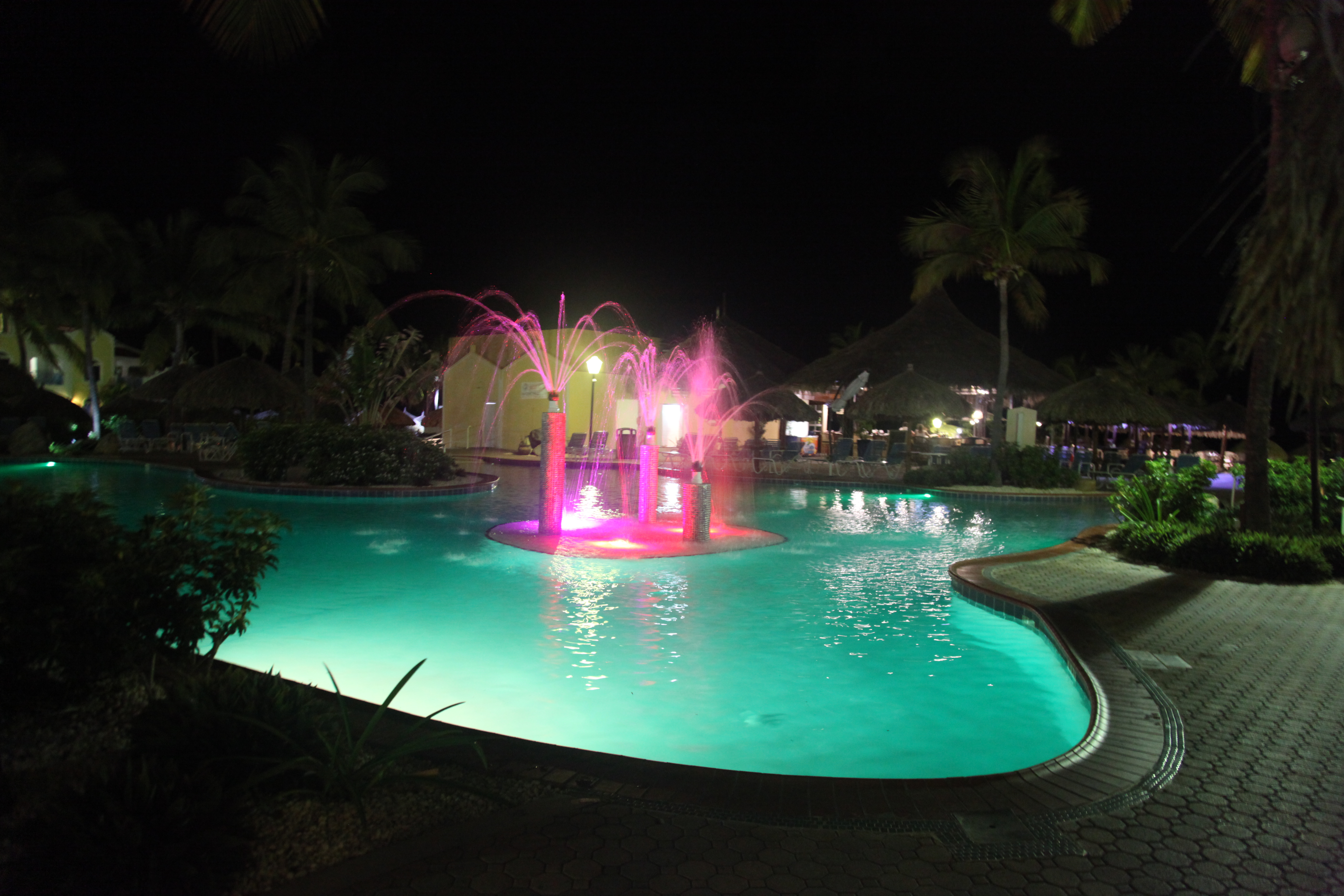 Costa Linda Pool at night
